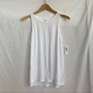 Old Navy White Basic Relaxed Fit Tank Top